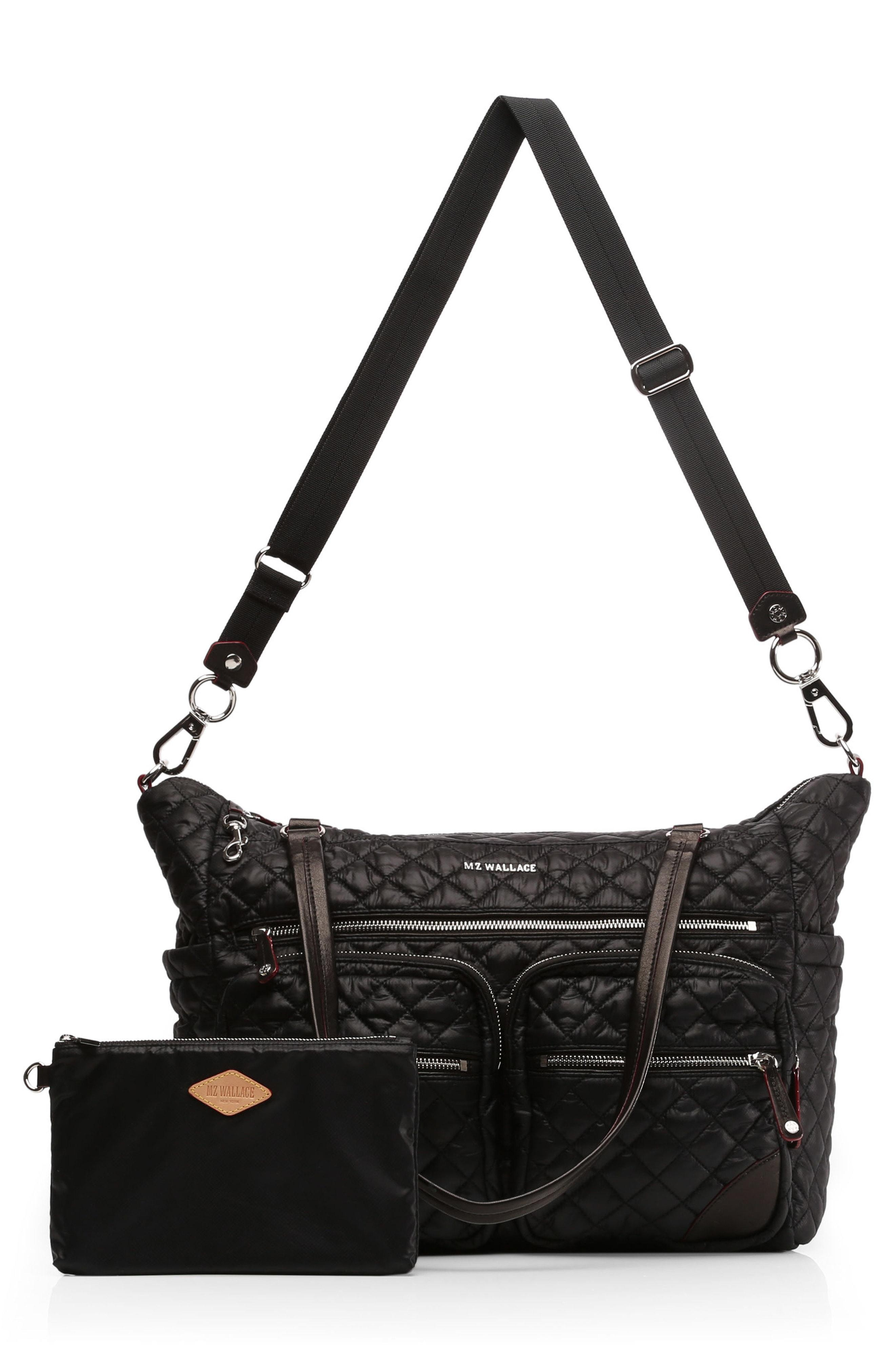 Crosby Quilted Traveler Oxford Nylon Diaper Bag Black