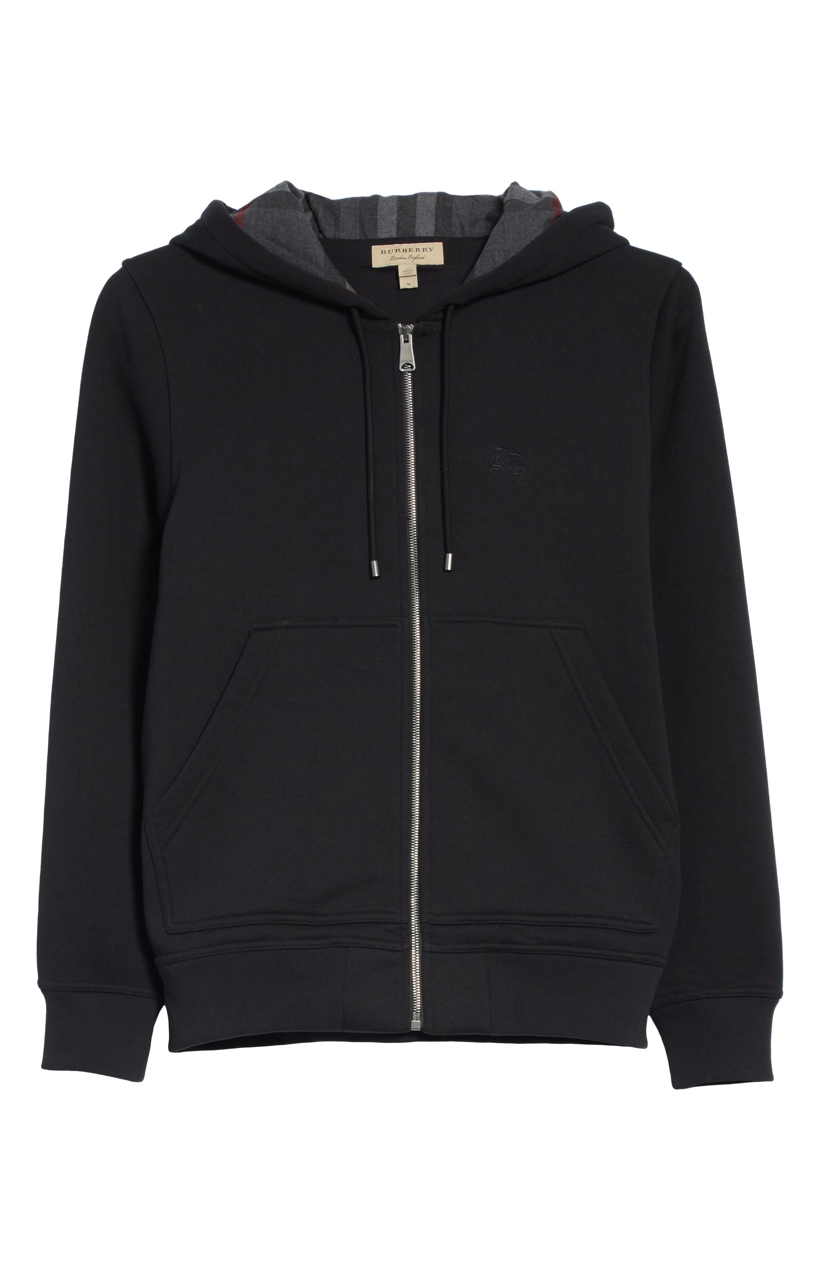 6caf5dd1b538 Burberry Logo-Embroidered Hooded Cotton Sweatshirt In Black