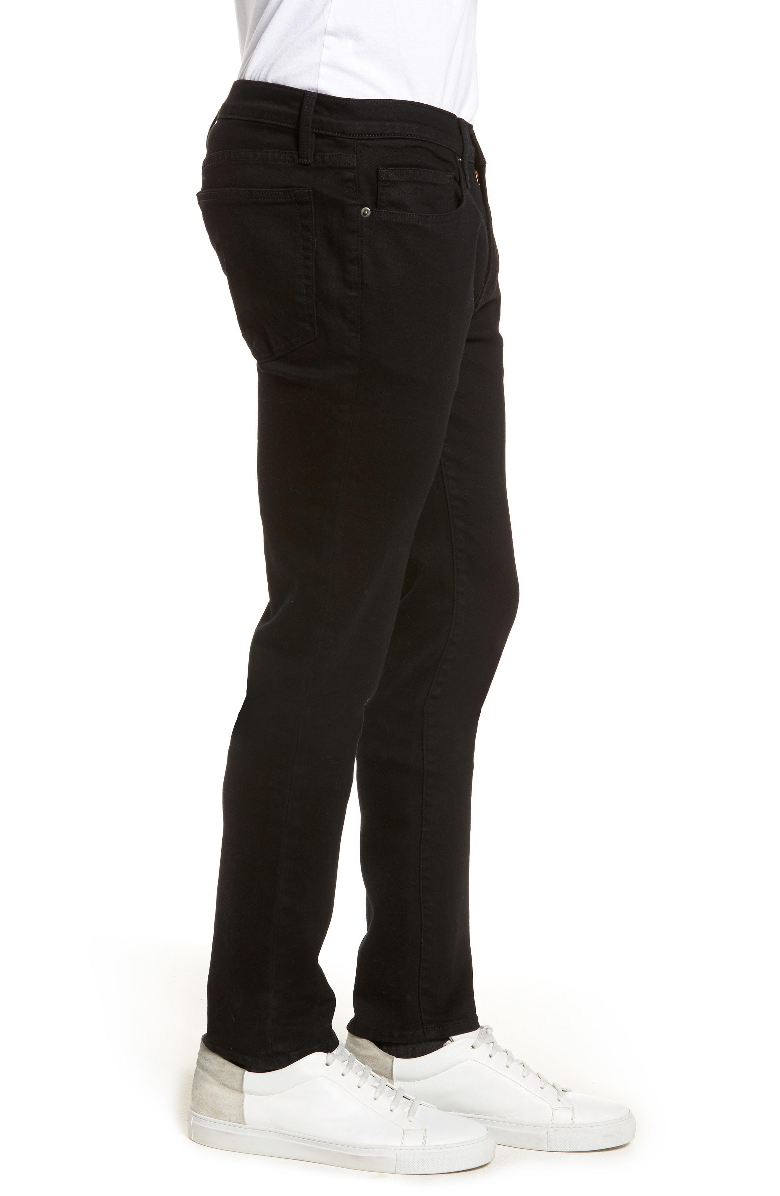 c39696355bc Frame L'Homme Skinny-Fit Stretch-Denim Jeans - Black In Noir | ModeSens