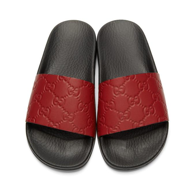 602245895f21 Gucci Red Pursuit Trek Sandals