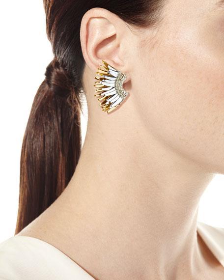 Mignonne Gavigan Mini Madeline Statement Earrings, White/Golden