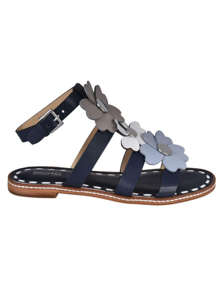 7d9289b2685f Michael Michael Kors Kit Flat Sandals In Blue/Grey | ModeSens