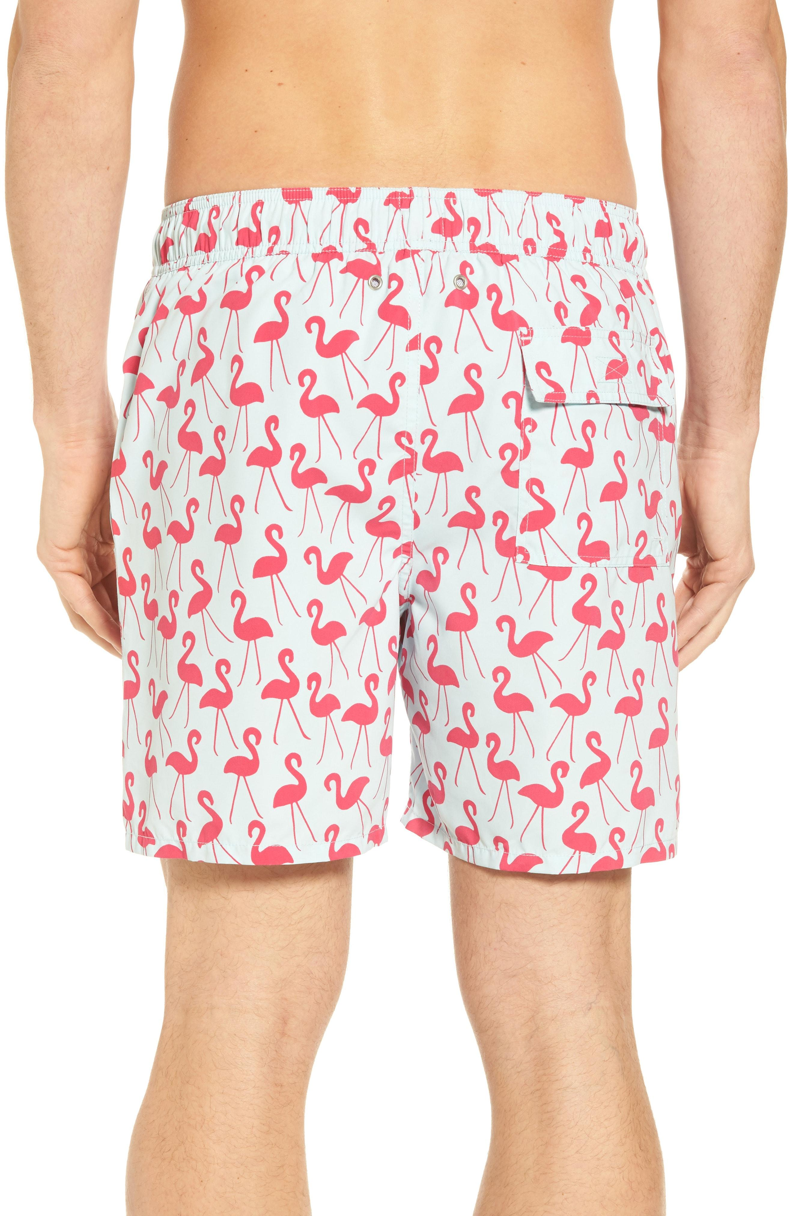 efd6f0038ca Tom & Teddy Flamingo Print Swim Trunks In Fuchsia   ModeSens