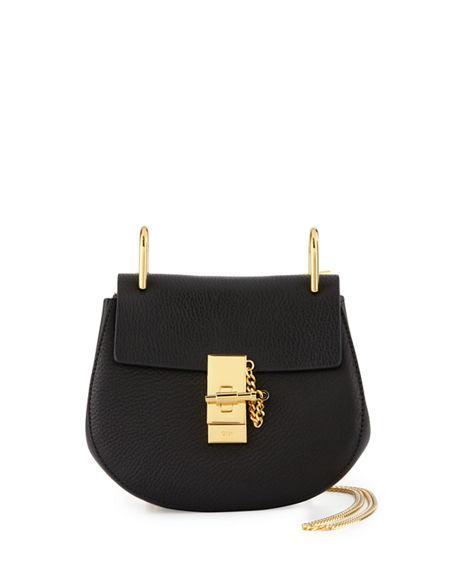 1334ede1 Drew Mini Textured-Leather Shoulder Bag in Black