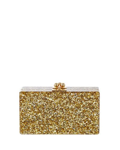 d998274150 Edie Parker Jean Glitter Acrylic Box Clutch In Gold | ModeSens