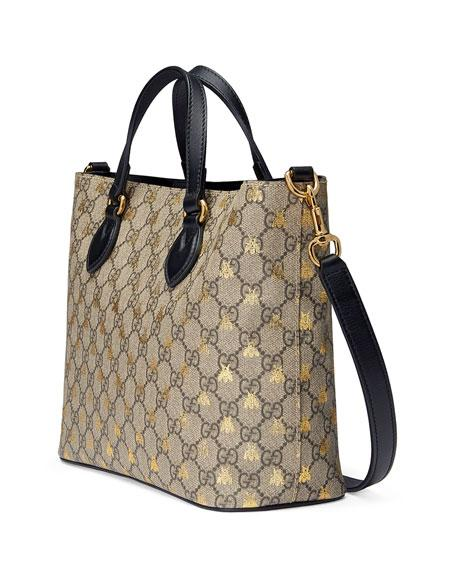 acaa9bc095ec Gucci Bee Gg Supreme Small Canvas Tote - Beige In Neutrals | ModeSens