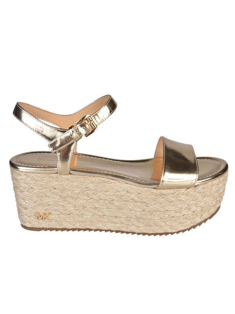 1bba66cdb227 Michael Michael Kors Nantucket Wedge Sandals In Pale Gold