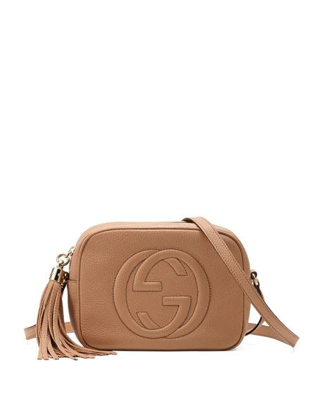34a7d6fa2234 Gucci Soho Disco Textured-Leather Shoulder Bag In Neutrals | ModeSens