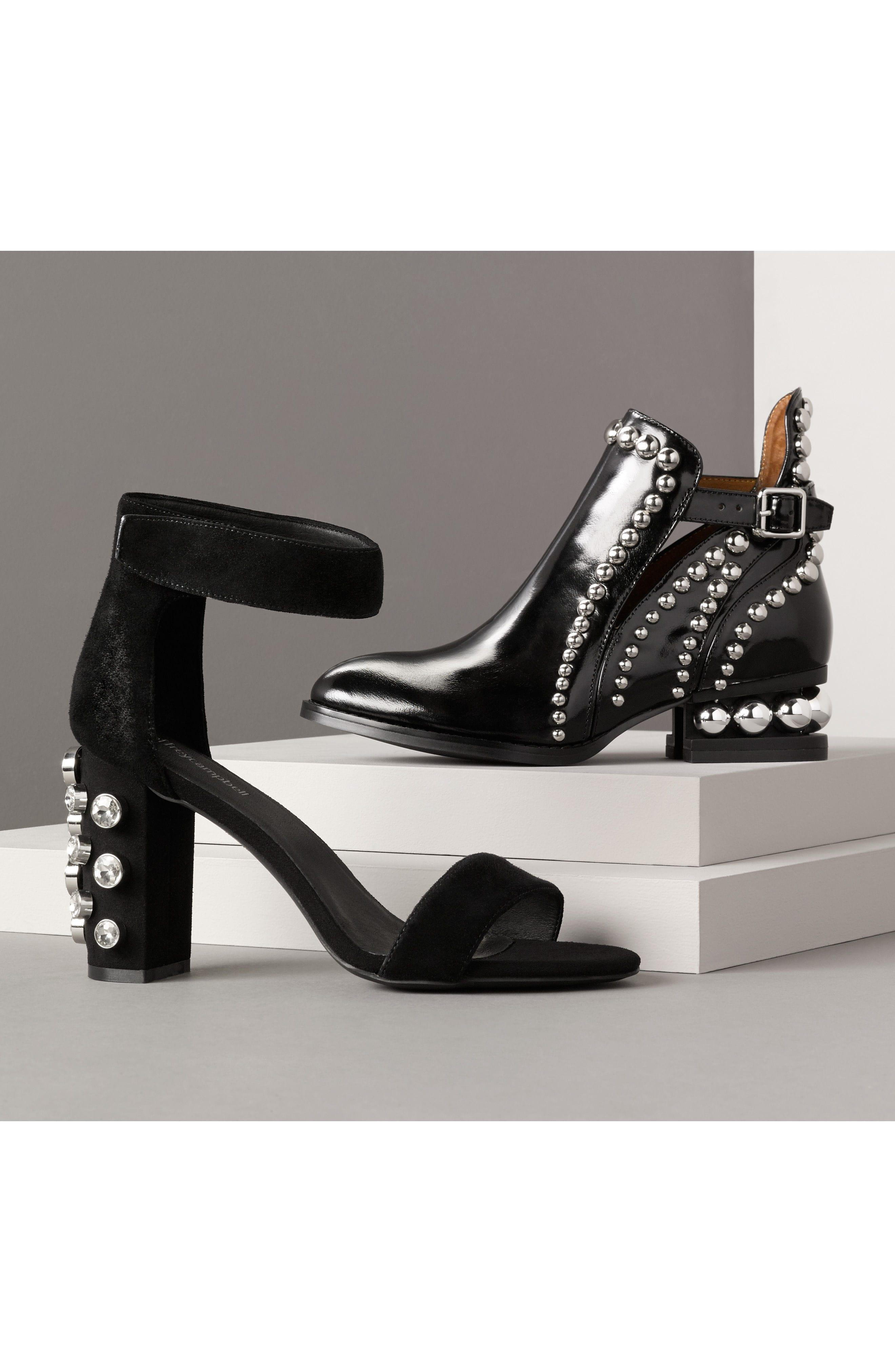 a12d2d8e1c8 Jeffrey Campbell Rylance Studded Bootie In Black Box Silver Leather ...