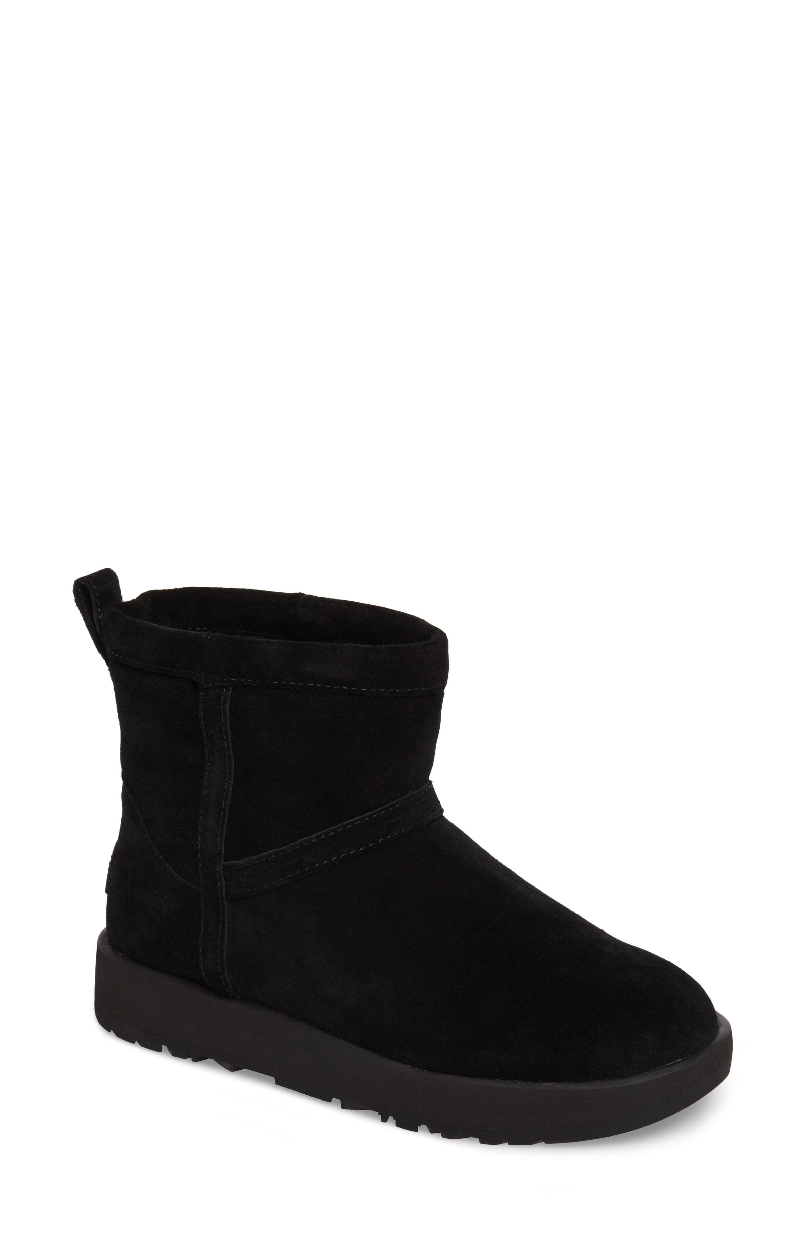 57ce66521f1 'Classic Mini Ii' Genuine Shearling Lined Boot (Women) in Black