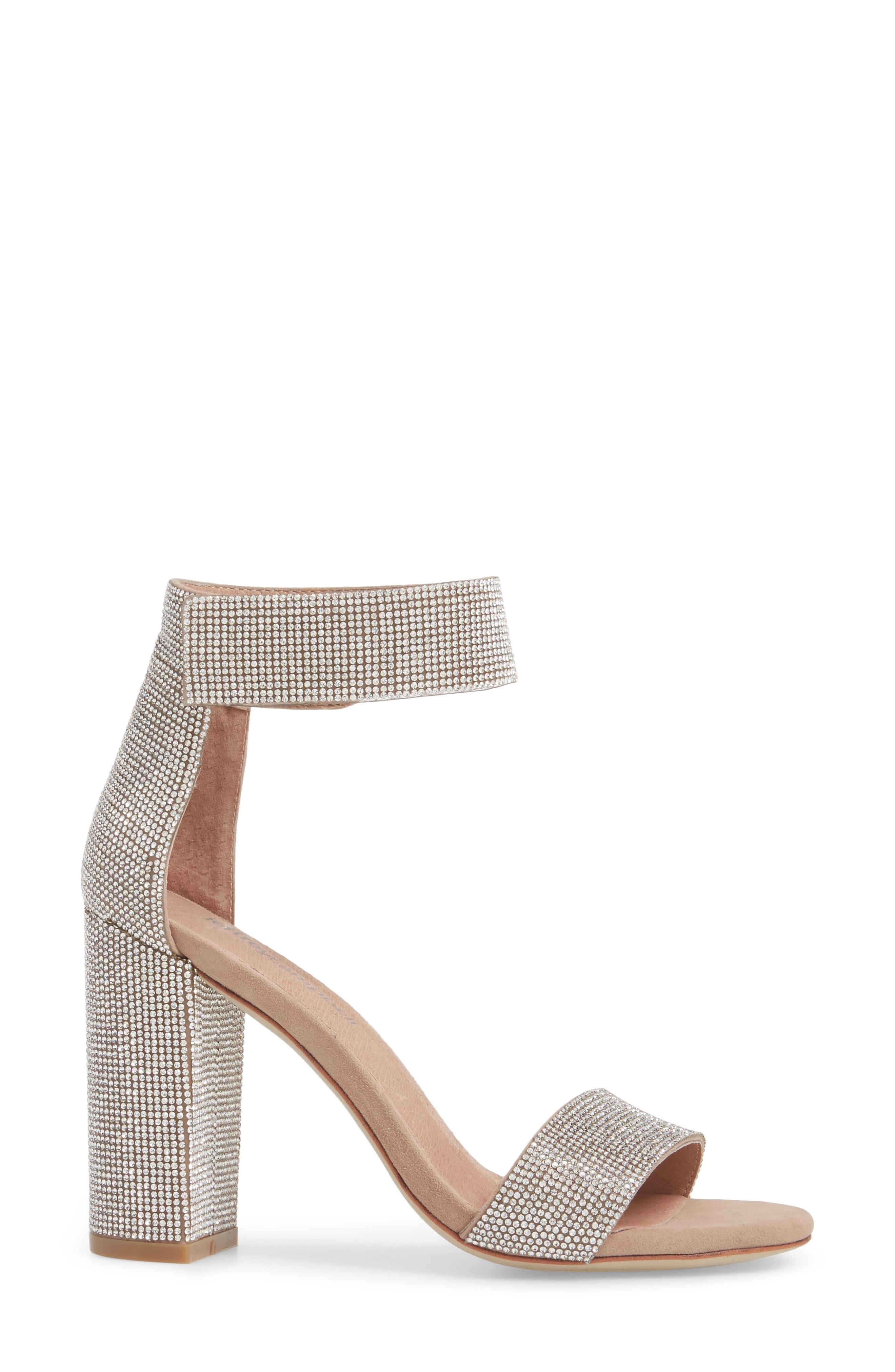 7963f468fbd Jeffrey Campbell Lindsay Sandal In Nude Suede Champagne