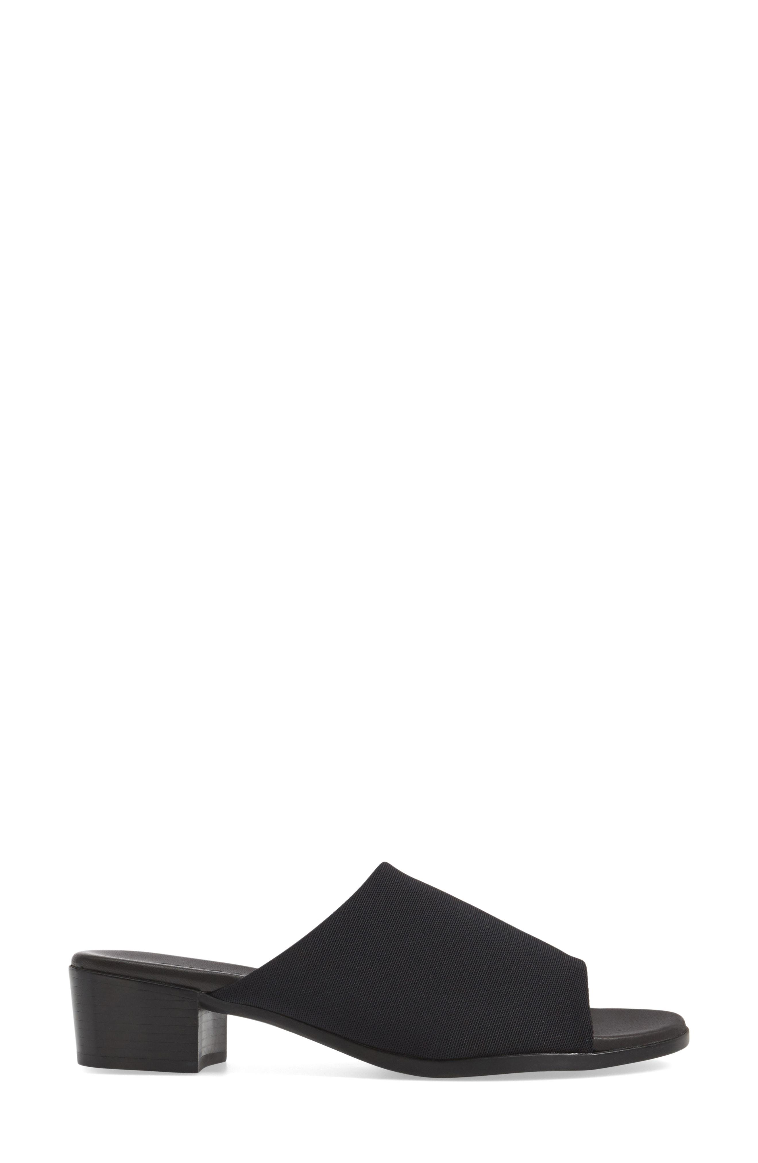 a3685961c24b Munro Beth Slide Sandal In Black Fabric