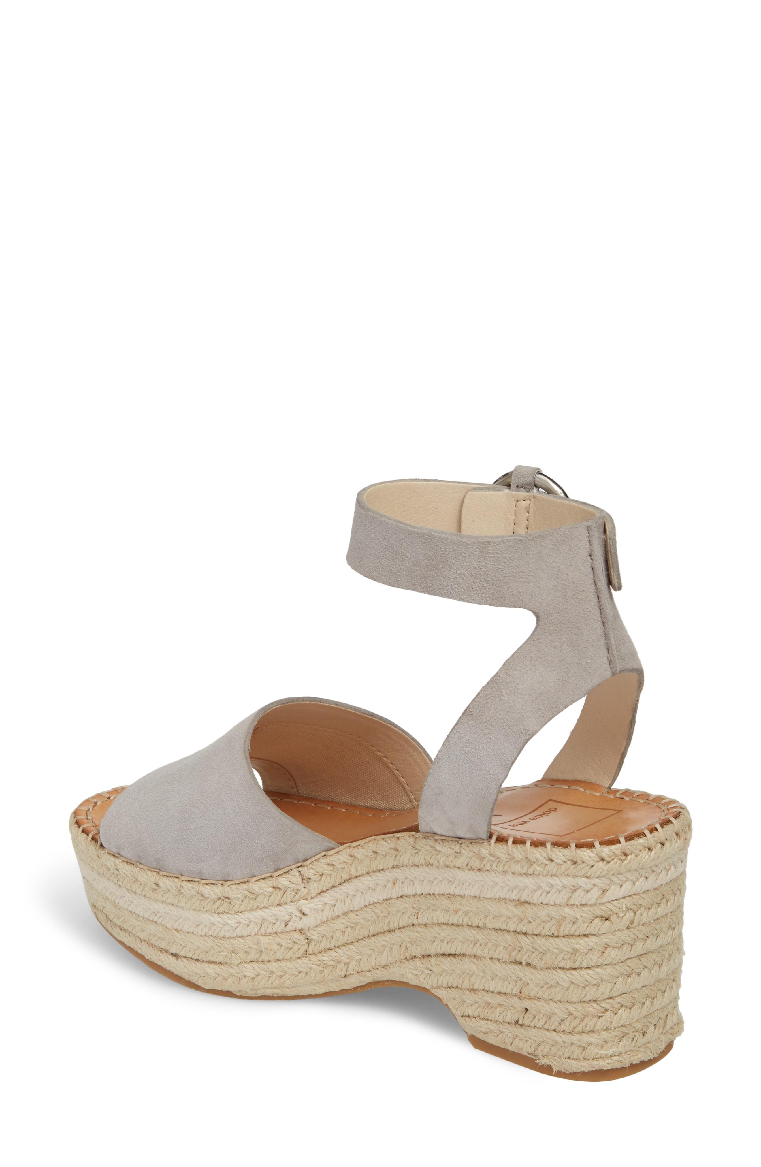 93e18076990 Lesly Espadrille Platform Sandal in Grey Suede