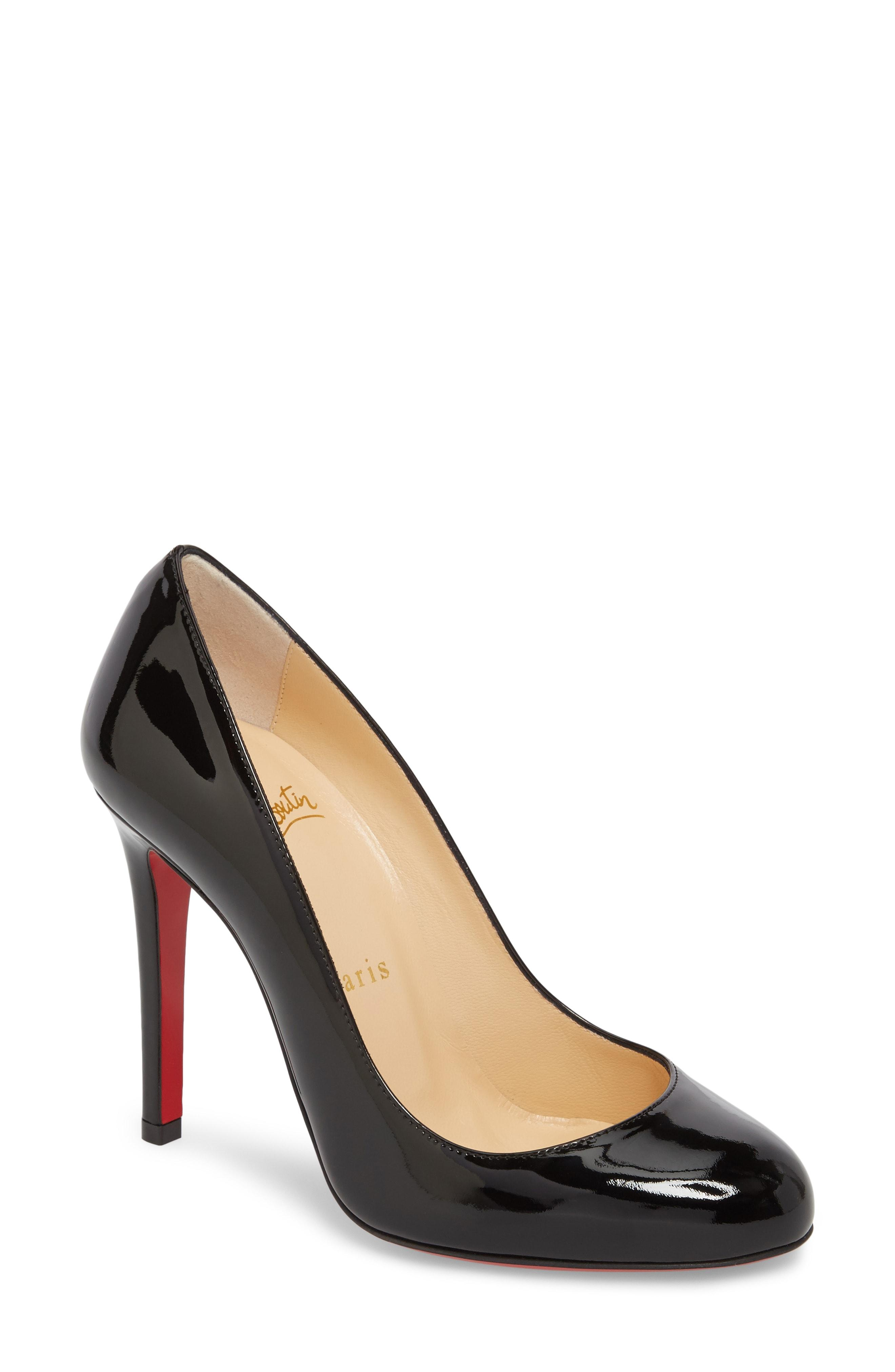 0162ec1613 Christian Louboutin Simple Patent 85Mm Red Sole Pumps In Black ...