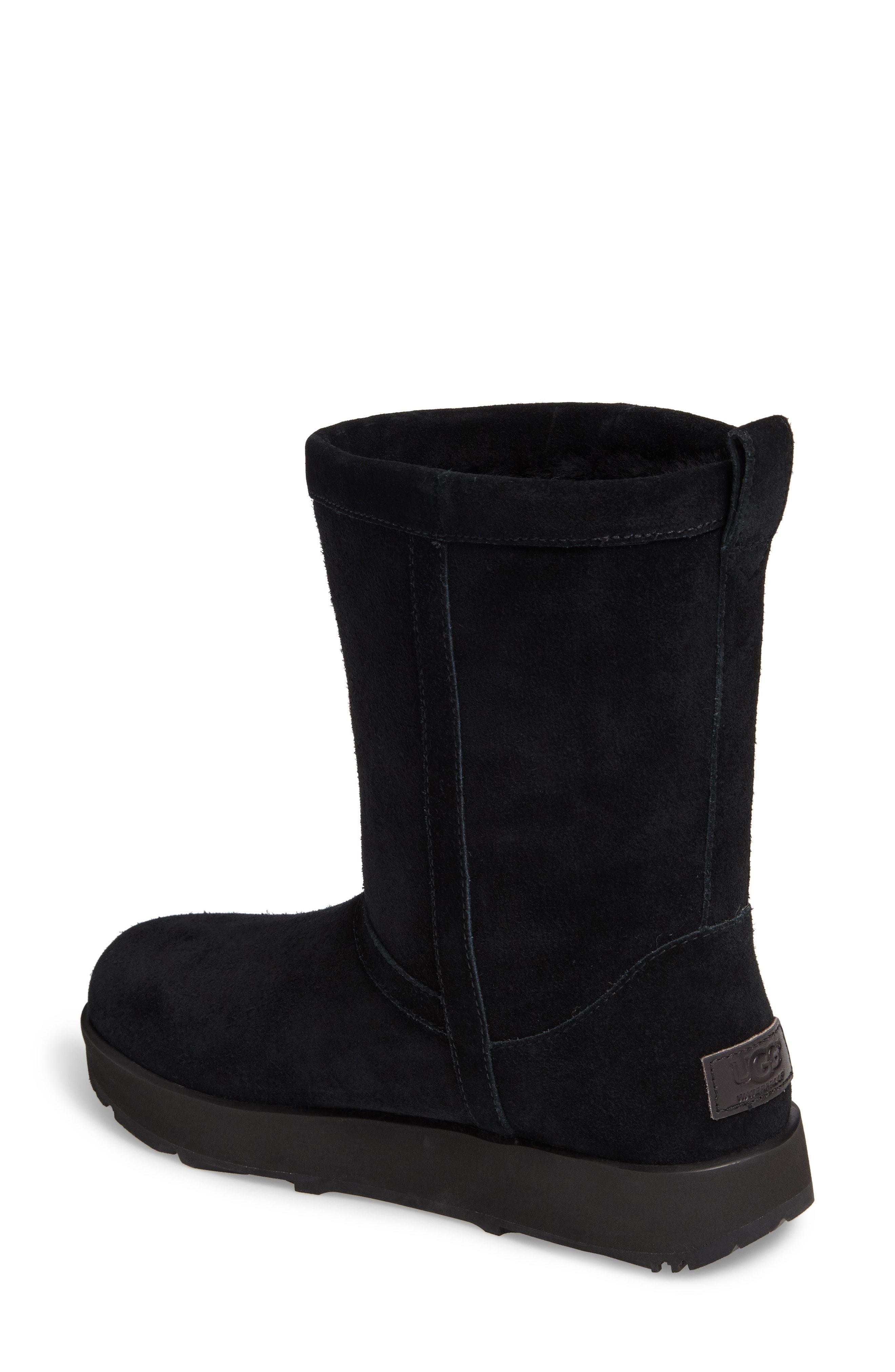 ccf130a788 Ugg Women s Classic Short Waterproof Suede   Sheepskin Booties In Black  Suede