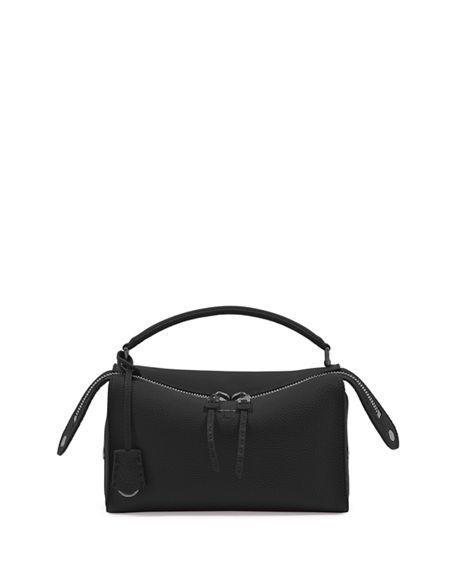 f1ed6aa2b6c5 Fendi Selleria Lei Roman Calf Boston Bag In Black