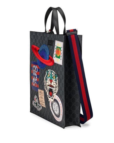 0d73ab812c0 Gucci AppliquÉD Gg Supreme Canvas Shopper Tote Bag - Black
