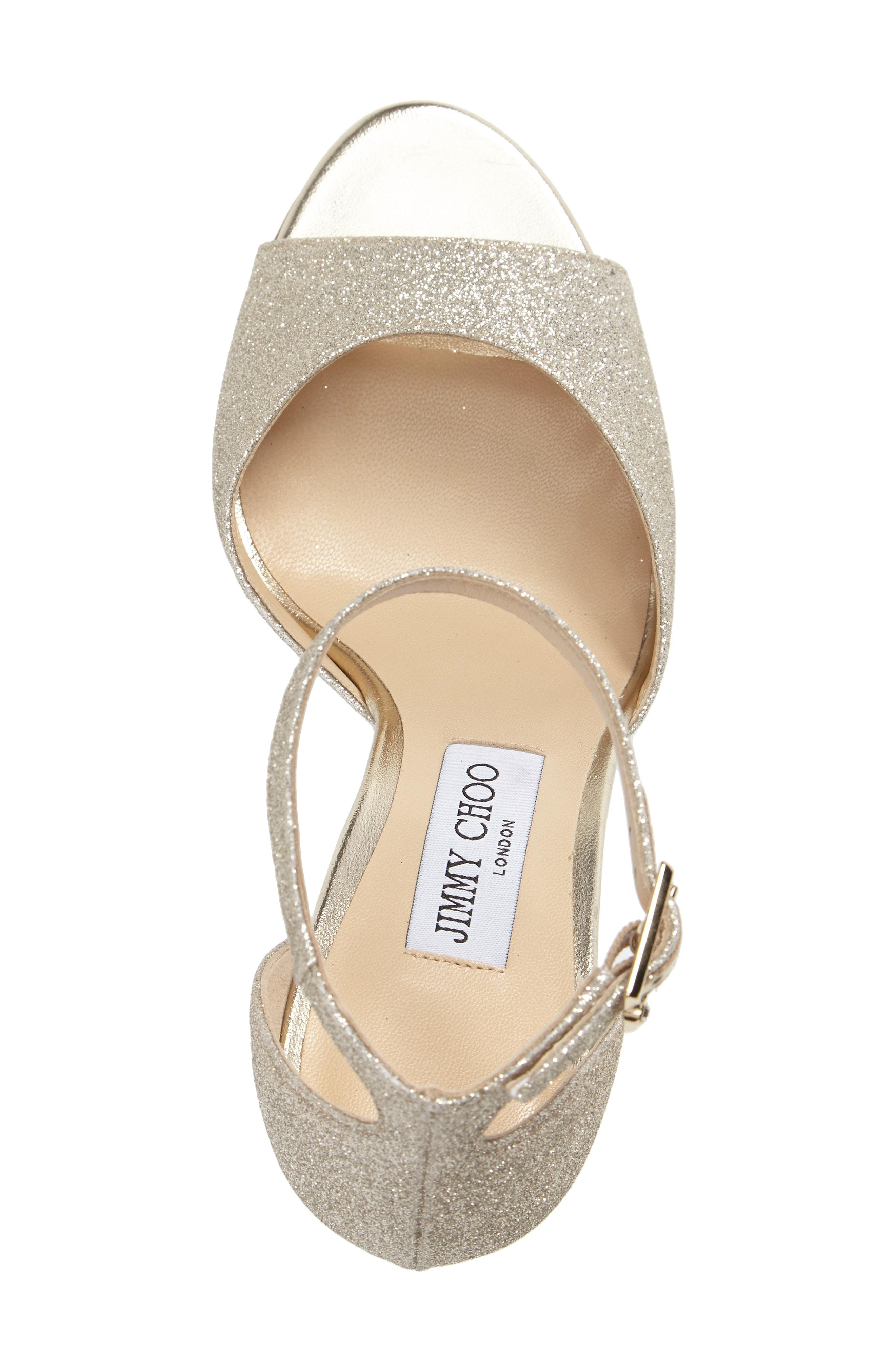 bf230b96583a Jimmy Choo Annie Ankle Strap Sandal In Platinum Ice