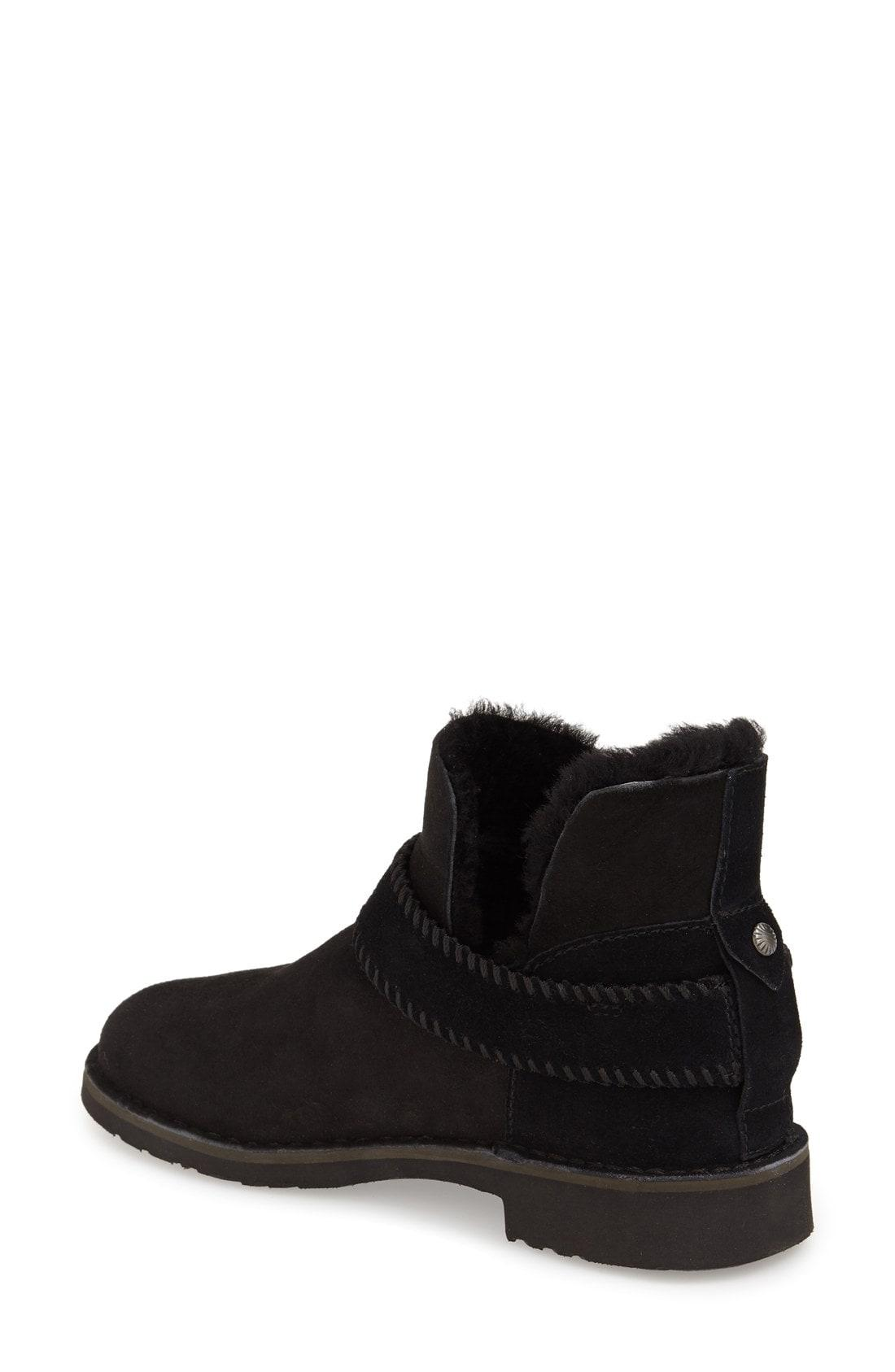 3ac7d625d6f Mckay Fold Cuff Suede Ankle Boots With Shearling in Black