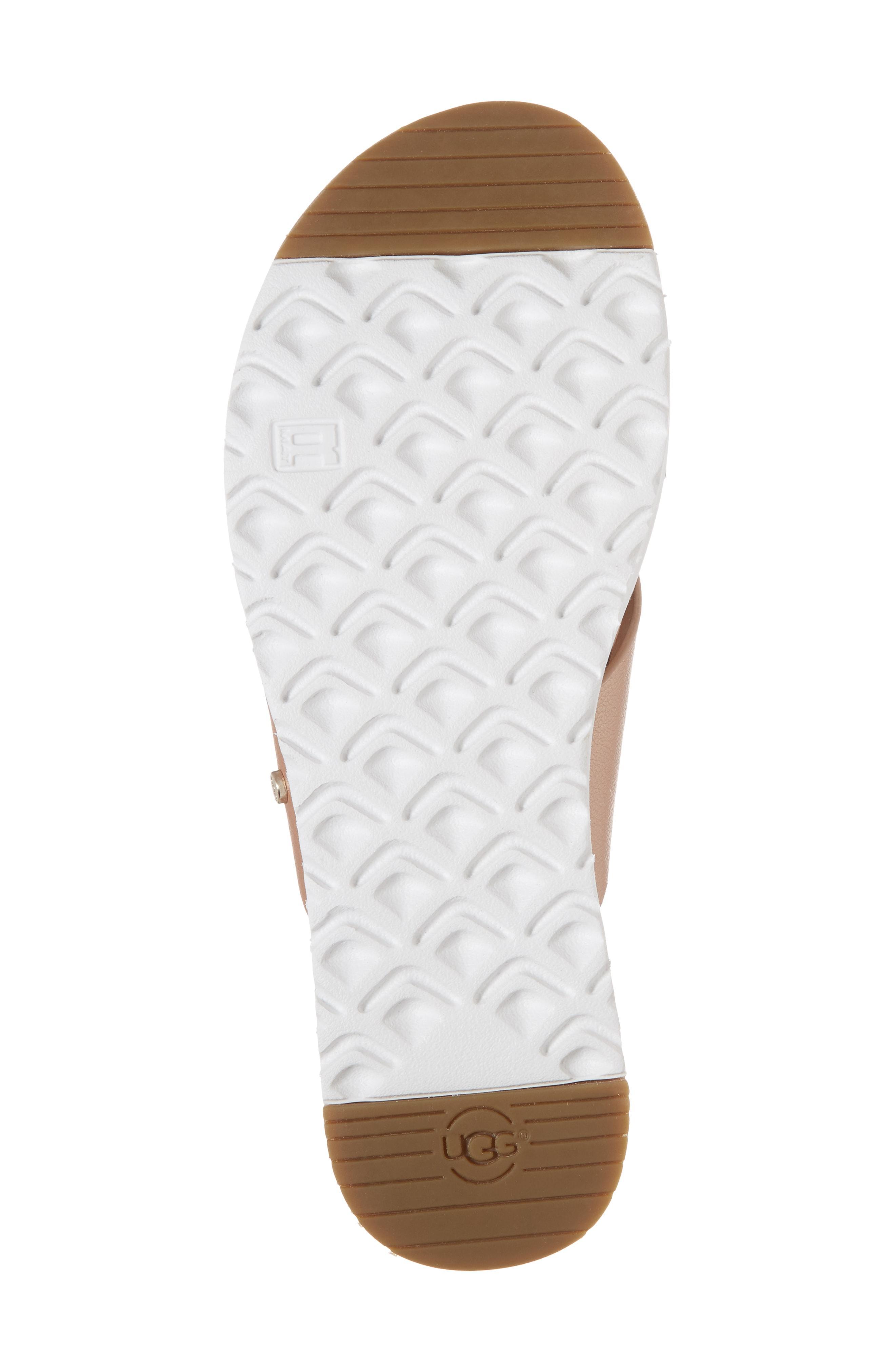 7f57db8c578 Kari Metallic Leather/Suede Cross-Band Slide Sandal in Rose Gold Leather