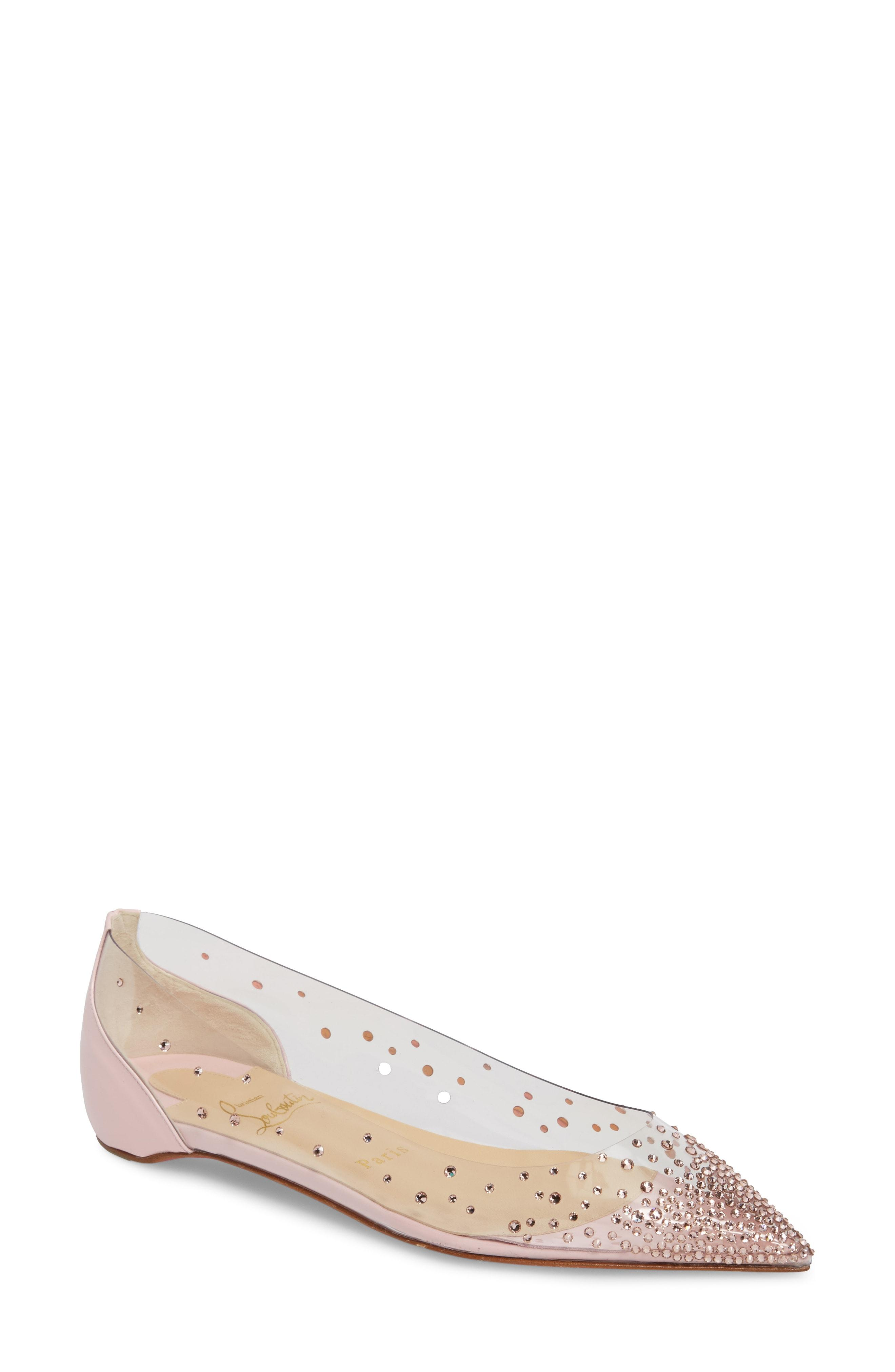61b3d0c206d Follies Strass&Trade; Mesh & Leather Flats in Version Gold