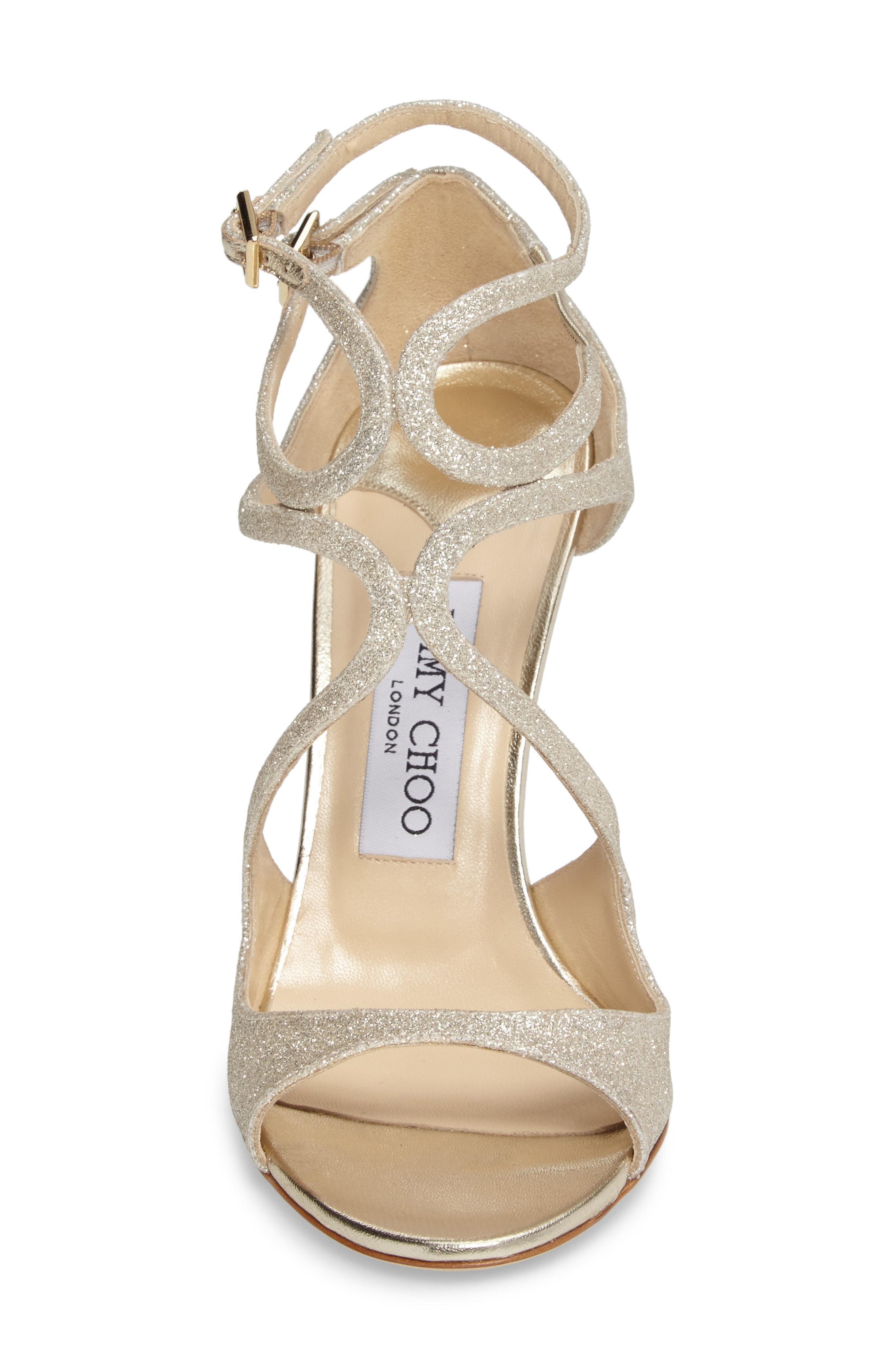 90892293cef Jimmy Choo 100Mm Lang Dusty Glitter Sandals