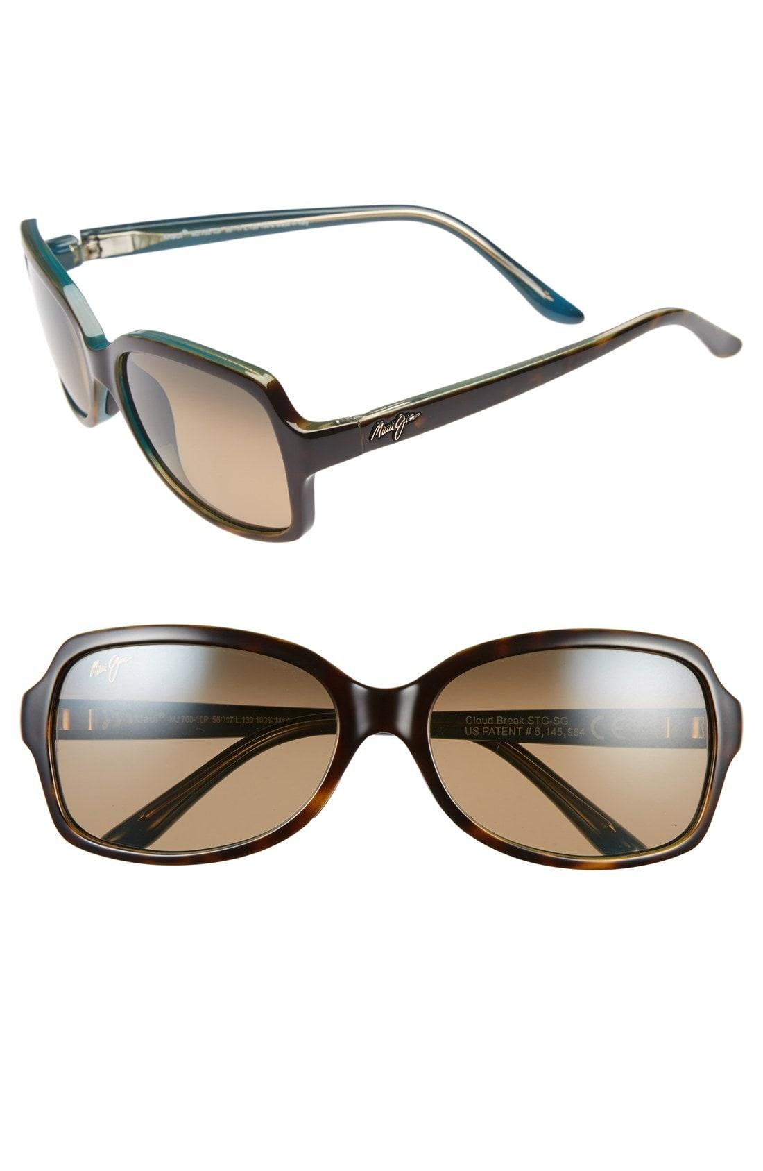 9732759e1b Maui Jim Cloud Break 56Mm Polarizedplus2 Sunglasses - Tortoise Peacock/  Blue/ Bronze In Brown