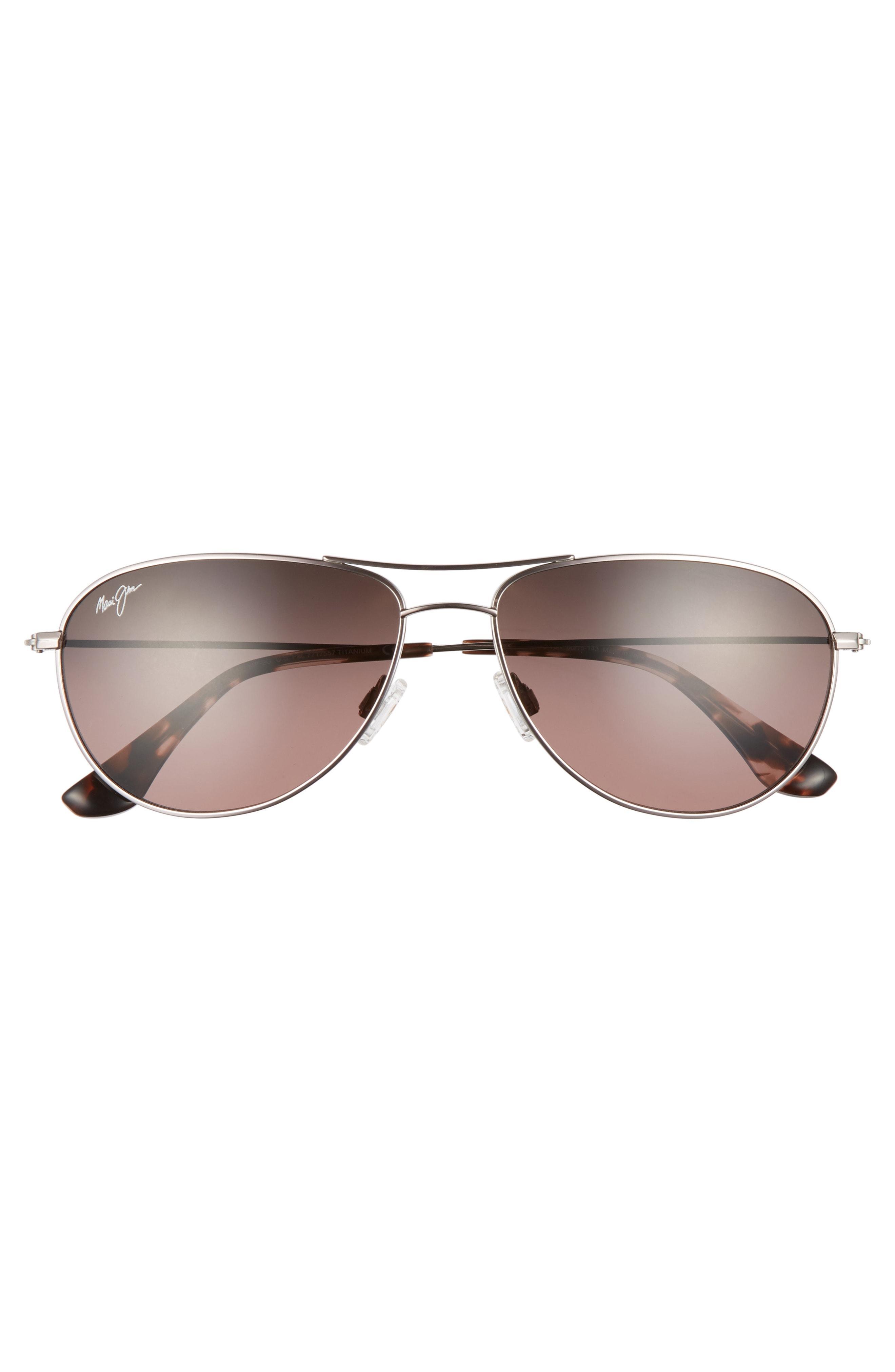 fbb3dd313f2bb Maui Jim Sea House 60Mm Polarized Titanium Aviator Sunglasses In Rose Gold   Maui Rose