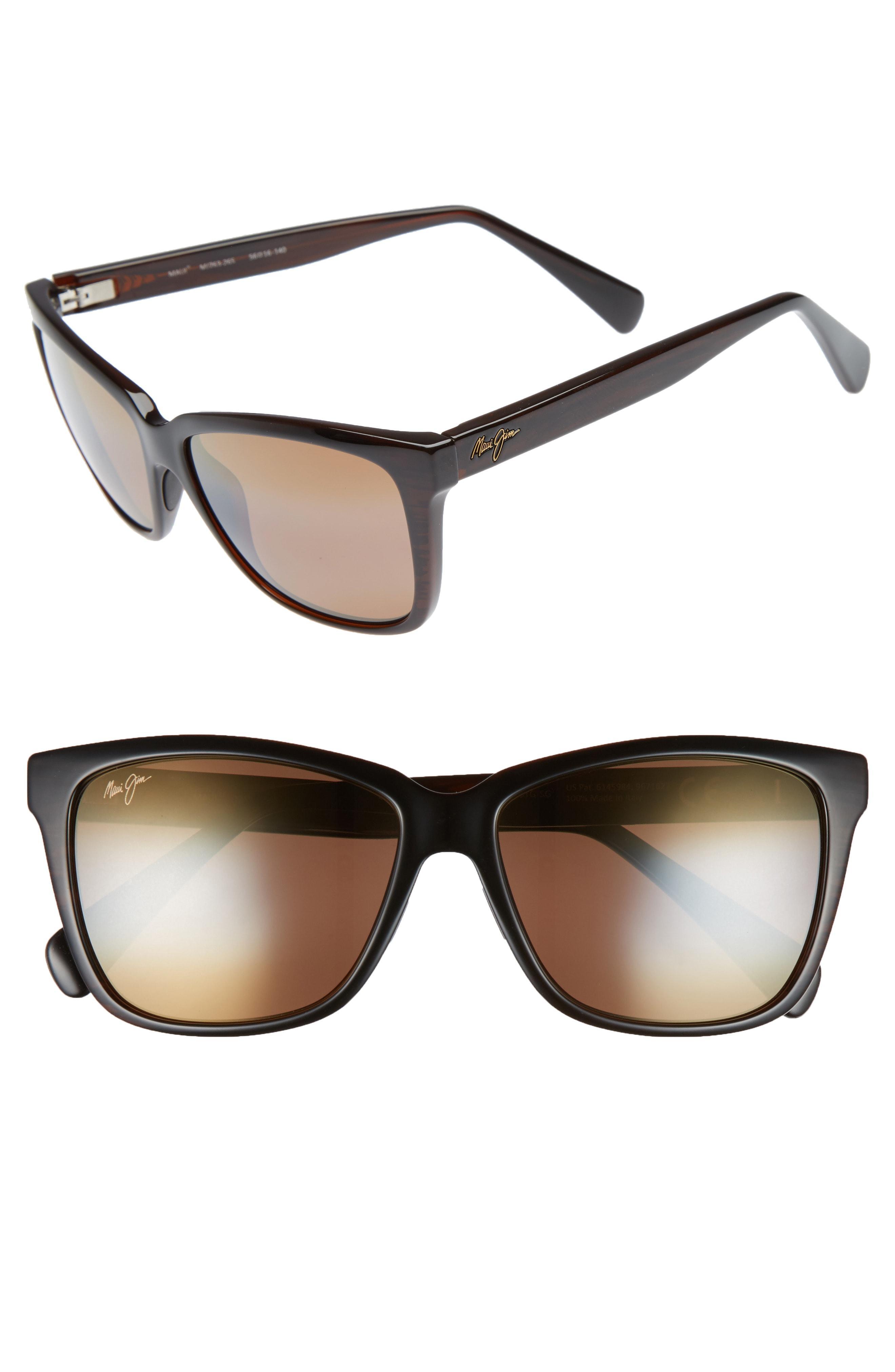 Maui Jim JACARANDA H763-26S Brown Stripe Sunglasses Polarized HCL Bronze Lenses