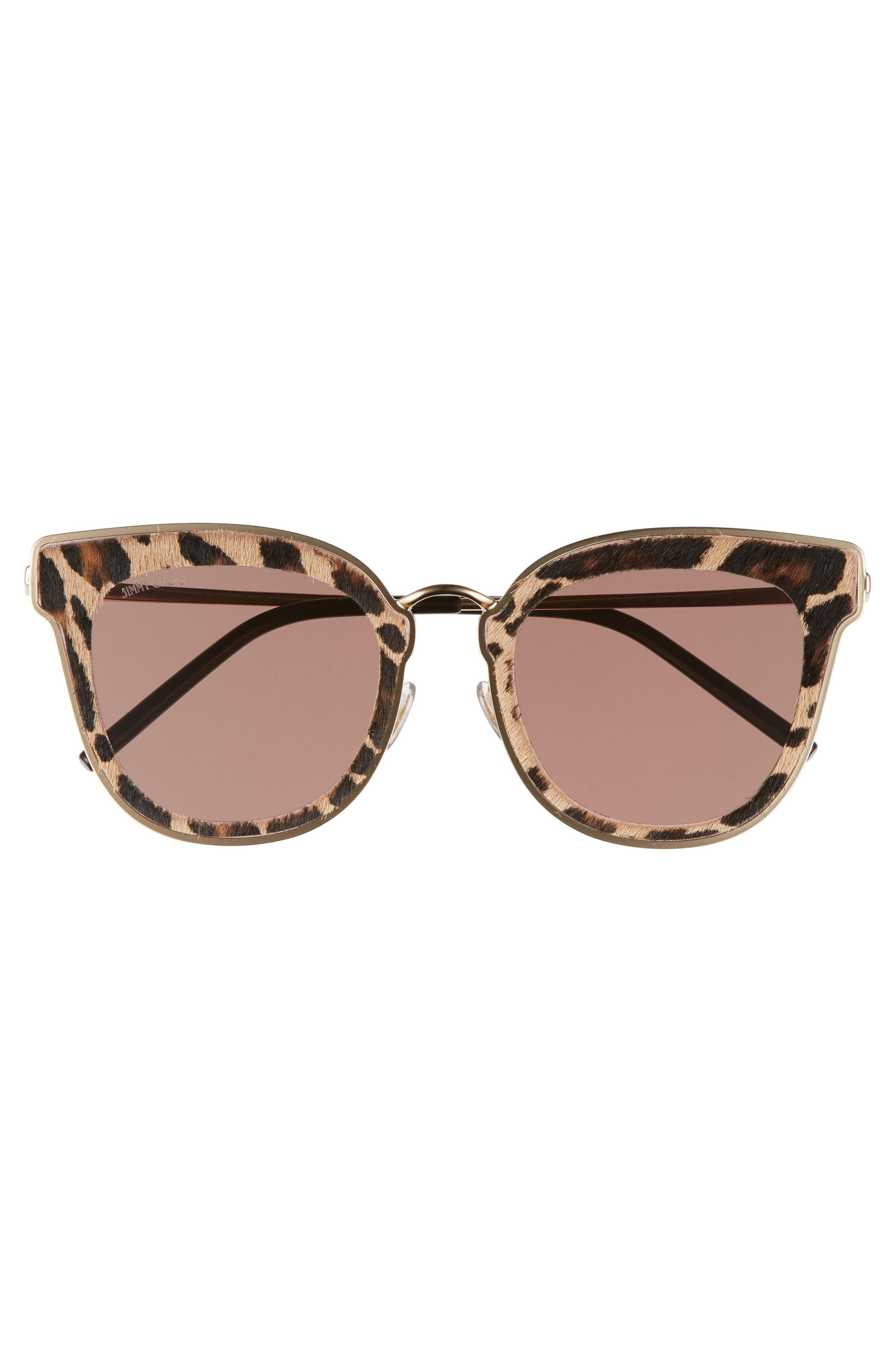 f94d11ab71a Jimmy Choo Niles 63Mm Oversize Cat Eye Sunglasses - Gold Black Leopard