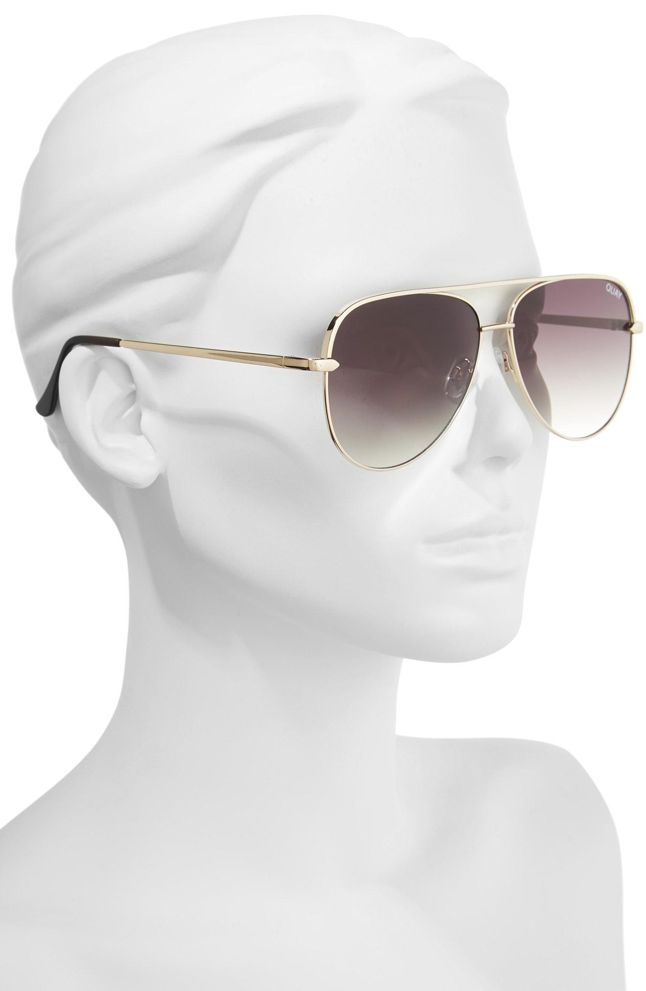 3cca3dd690e Quay X Desi Perkins Sahara 60Mm Aviator Sunglasses - Gold  Smoke ...