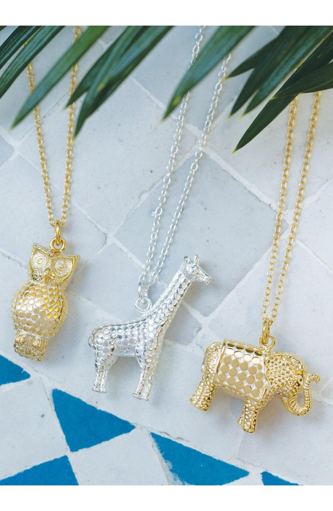 4e613f094 Anna Beck Jewelry That Makes A Difference Elephant Pendant Necklace In  Gold/ Silver