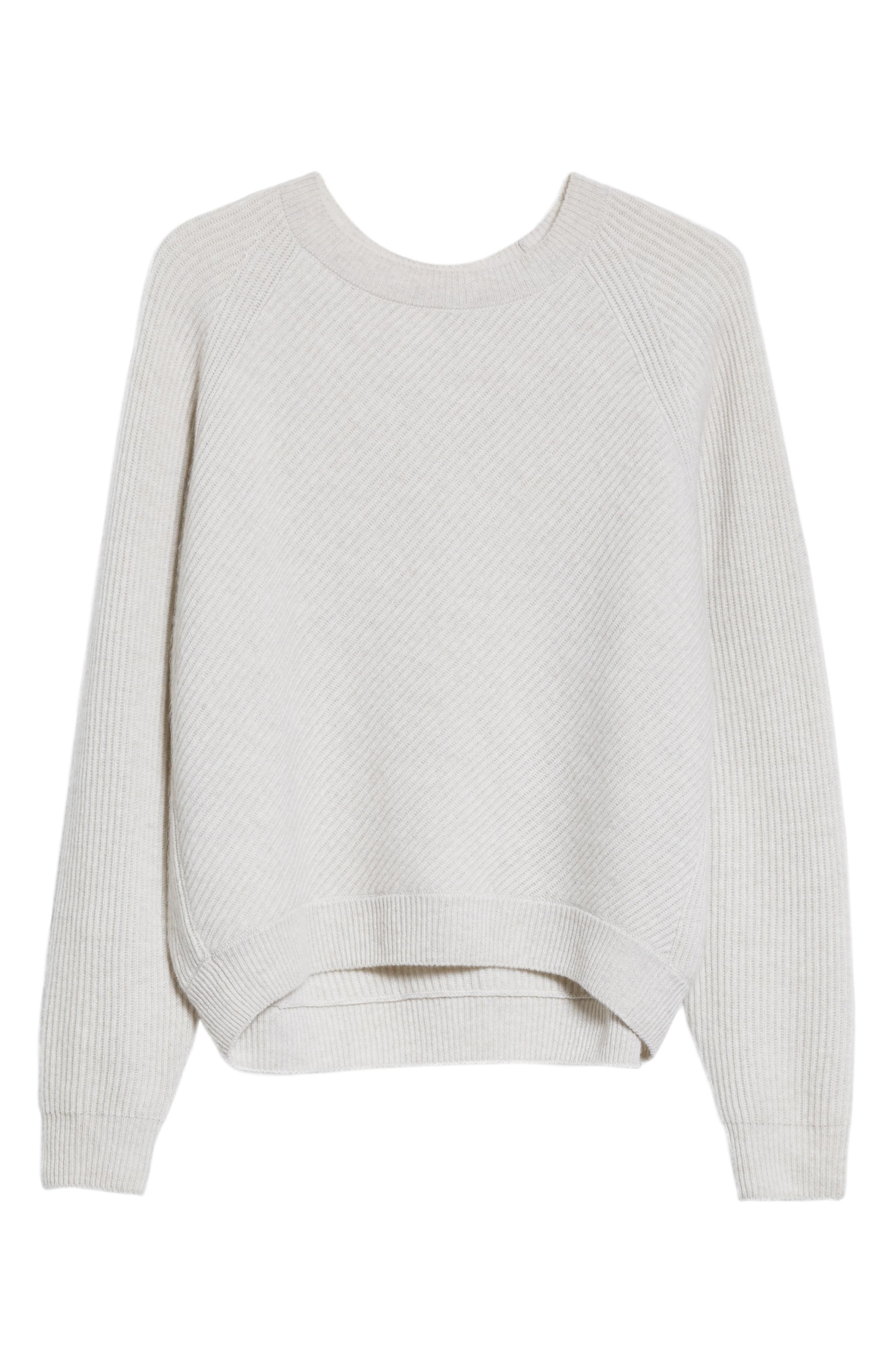 Diagonal Rib Wool & Cashmere Sweater In H Cloud
