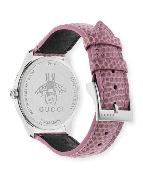 5625e4ed037 Gucci Ya1264046 G-Timeless Moonphase Stainless Steel And Lizard Leather  Watch In Pink