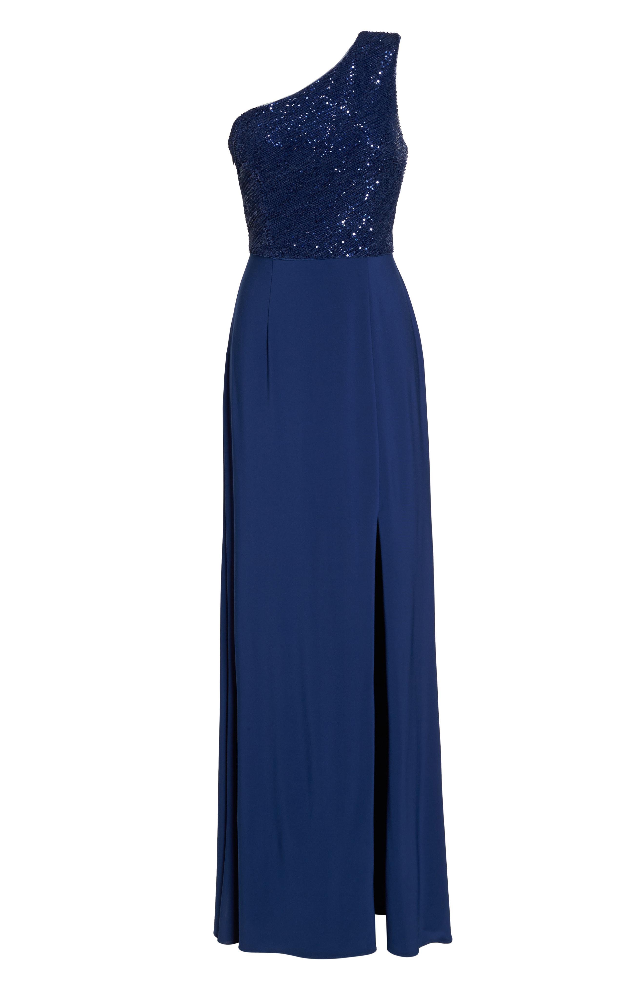 Lyst - Adrianna Papell Sleeveless Origami Sheath Dress in Blue