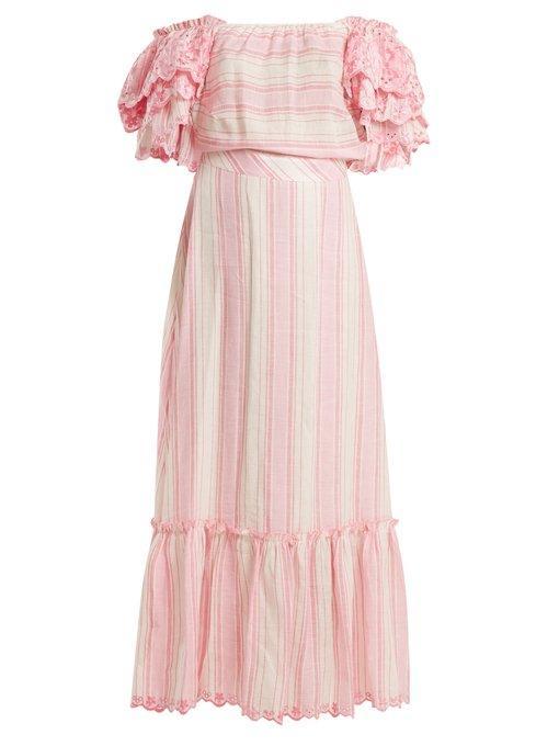 ab44fb7b GÜL HÜRgel Striped Off-The-Shoulder Dress In Pink Stripe | ModeSens