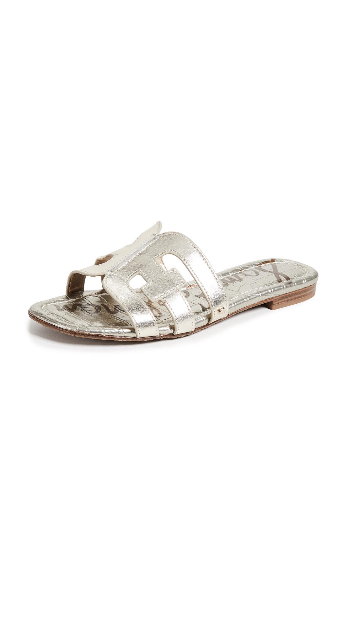 fd6201cd22de Sam Edelman Women s Bay Leather Slide Sandals In Jute