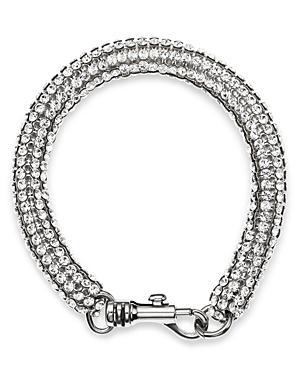 X Christopher Kane Skinny Single Bolster Bracelet In Silver