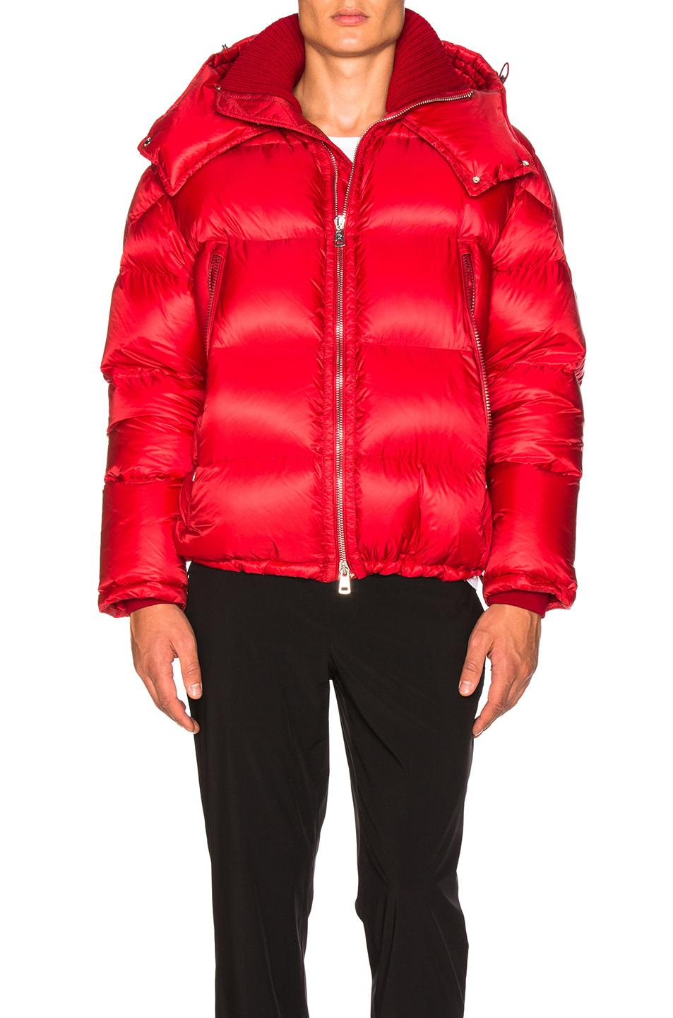 9f182bc7f Pascal Quilted Down Jacket With Hood in Red