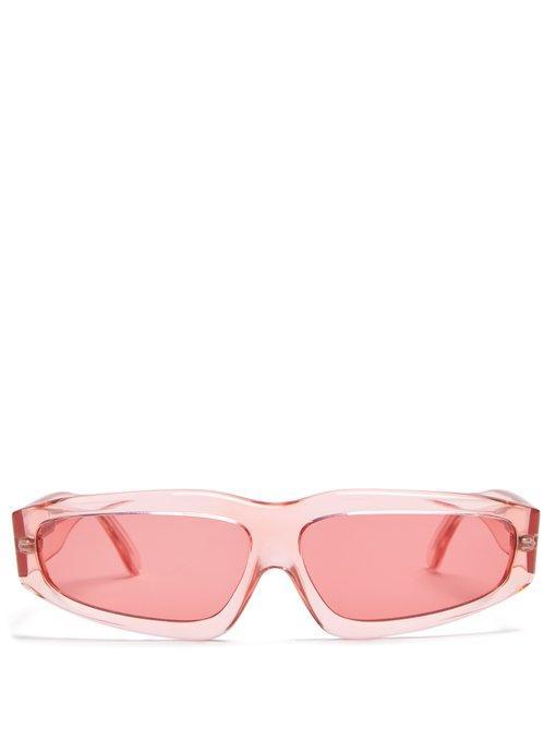 2aec765ef2539 Marques  Almeida Transparent Acetate Angular-Frame Sunglasses In ...