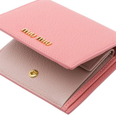 721ec4caac5c Miu Miu Single Color Madras Leather Wallet In Pink Rosy Blush