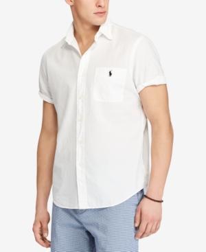 Polo Ralph Lauren Seersucker Classic Fit Button Down Shirt In