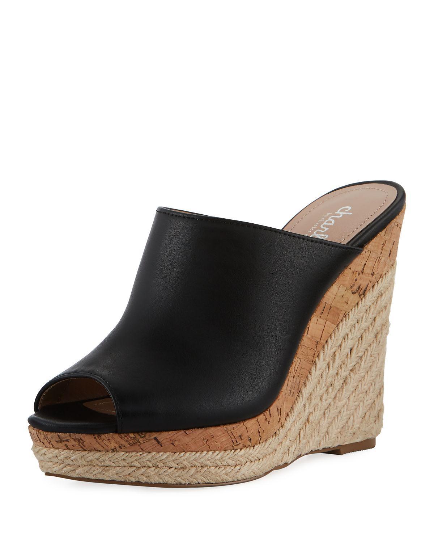 8098a747a56 Azie High Wedge Sandal Mule, Black