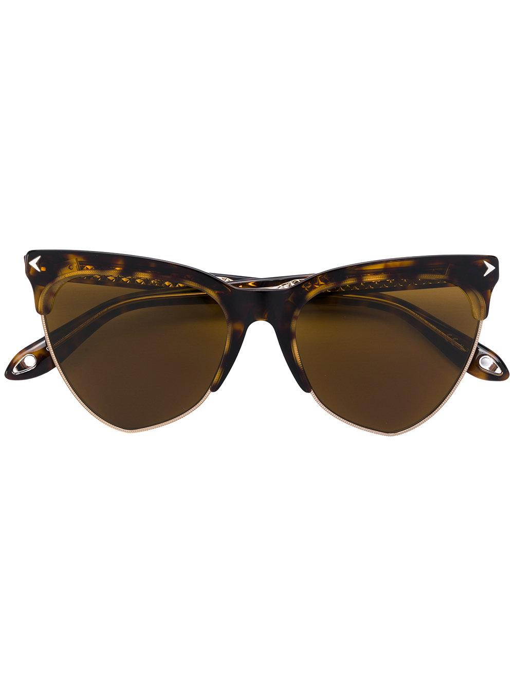 18464f1b1844 Givenchy Eyewear Cat Eye Tinted Sunglasses - Brown | ModeSens