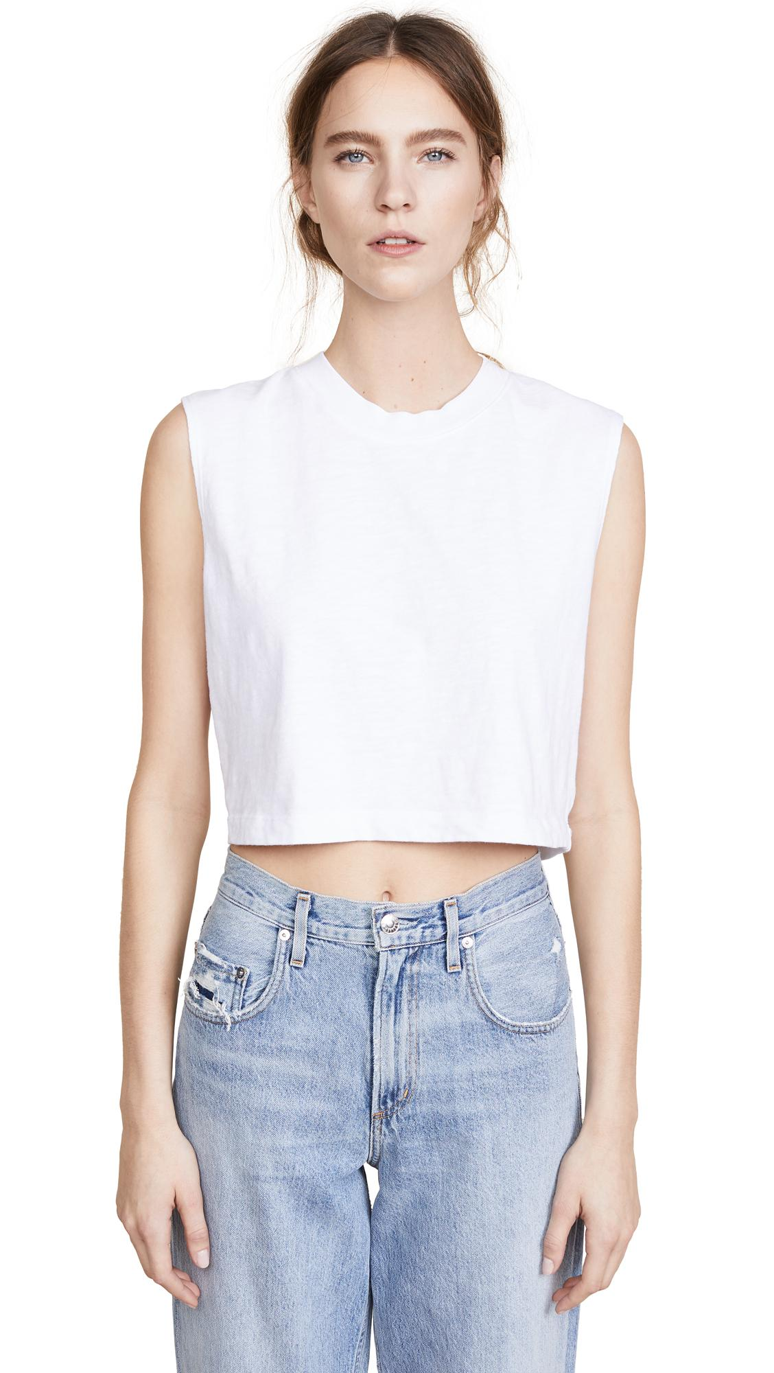 f8512778b46e8e Cotton Citizen The Tokyo Crop Muscle Tee In White
