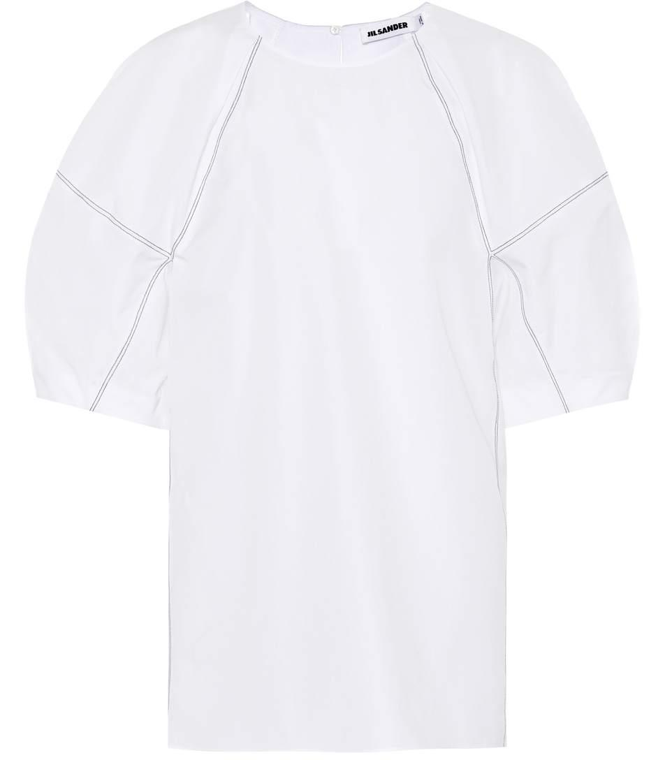 469e3d6545 Jil Sander Cotton Poplin Top In White