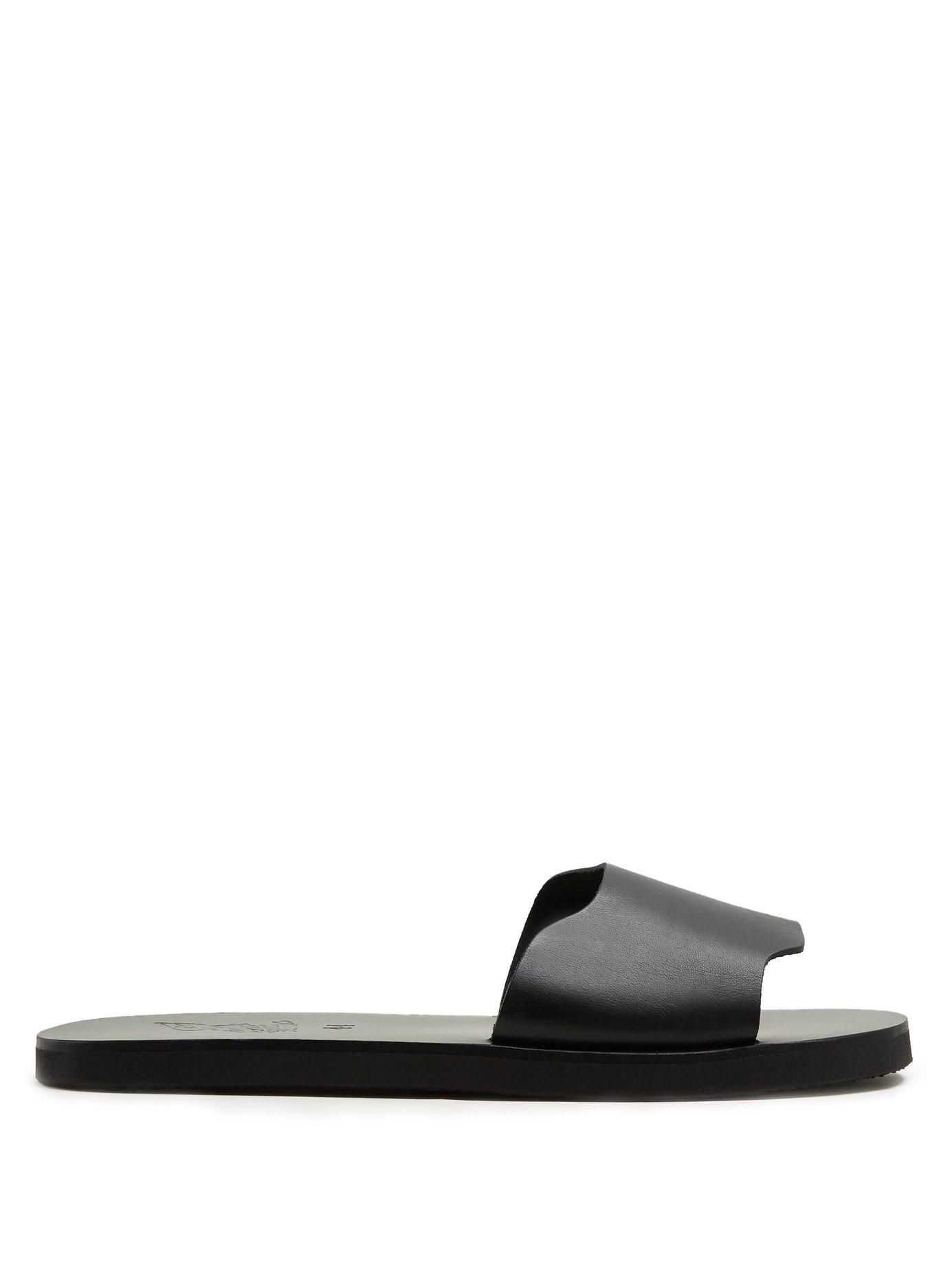 83a71aa38cf9 Ancient Greek Sandals - Ios Leather Slides - Mens - Black