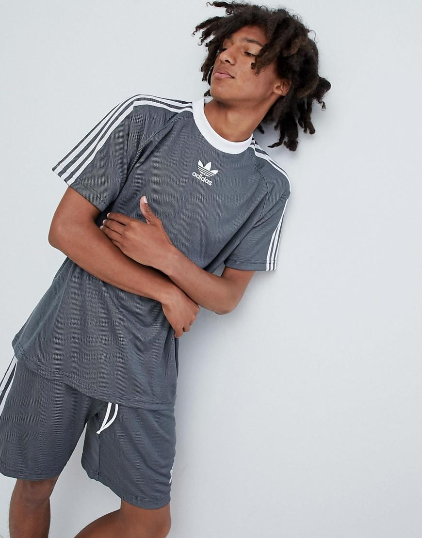 RRP £19.99 Junior Adidas Original Trefoil Grey//White T-Shirt PA1