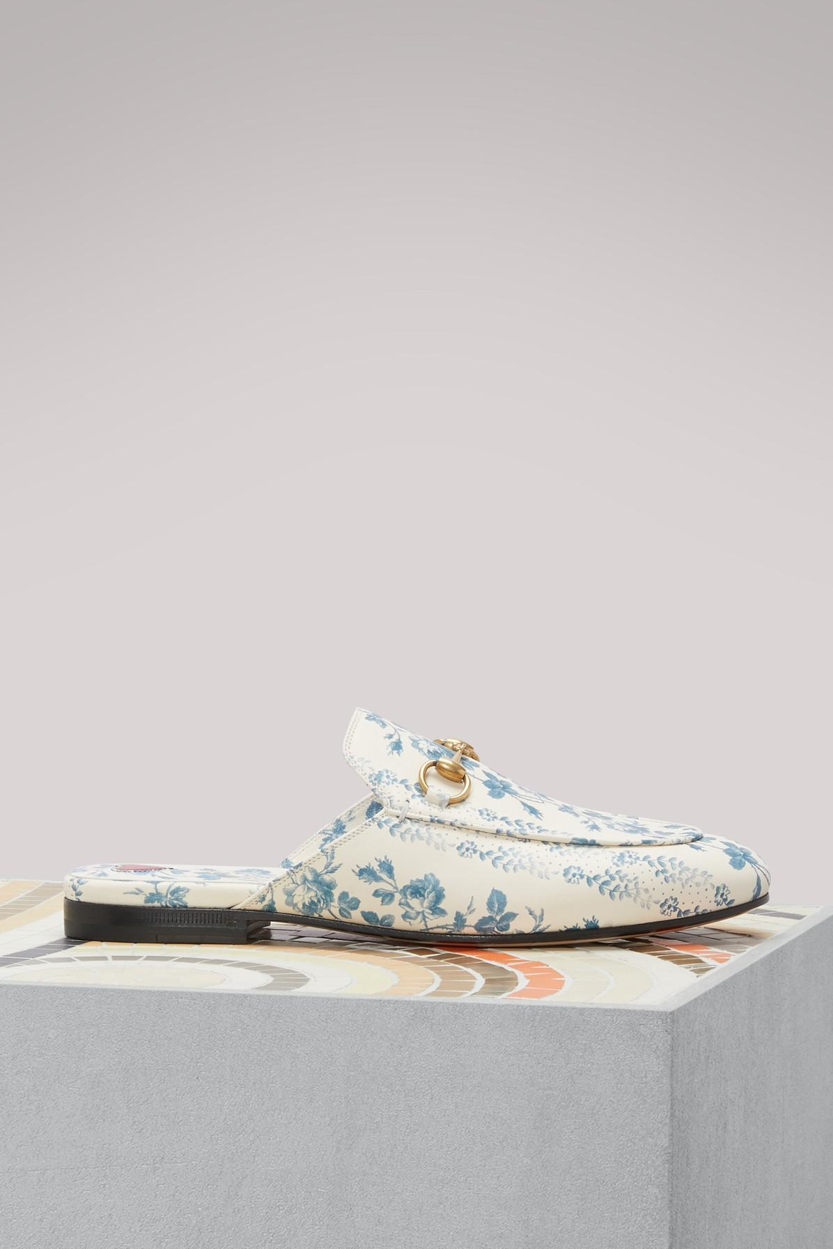 c1151aa3282 Gucci Princetown Rosebud Floral Printed Leather Mule In White