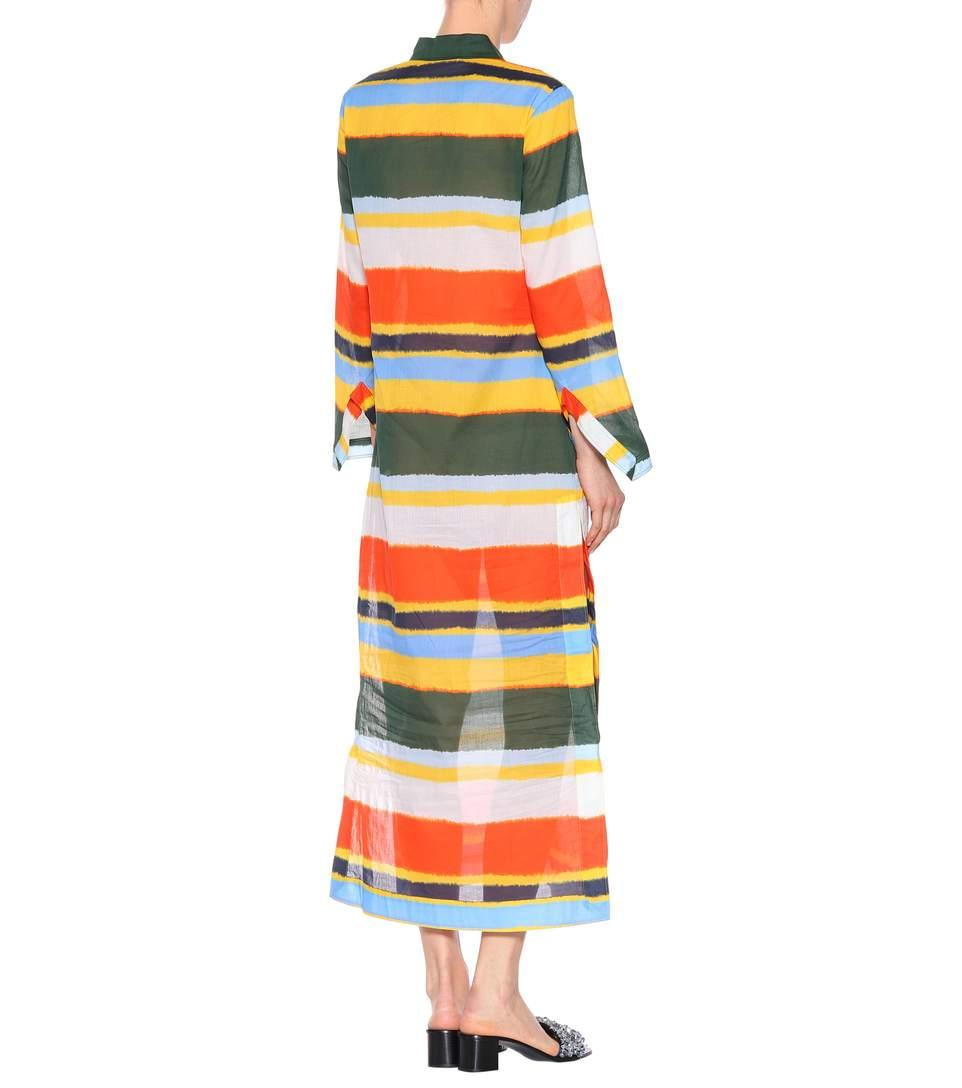 13f52c22ede02 TORY BURCH. Stephanie Beach Cotton-Voile Tie-Dye Kaftan in Multicoloured